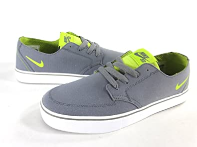 pretty nice 1b7b7 a5780 NIKE MENS BRAATA LR CANVAS SHOES,MED BASE GREYVENOM-GREENBLACK