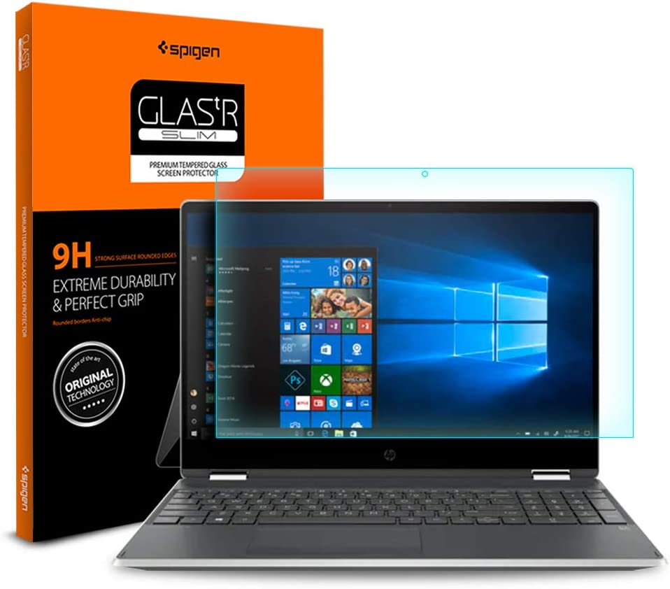 Spigen Tempered Glass Screen Protector Designed for HP Pavilion x360 (15.6 inch) [9H Hardness]