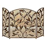 Aspire Home Accents Metal Leaves Fireplace Screen from Aspire Home Accents
