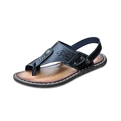 486ef6f1126 OCHENTA Mens Soft Leather Outdoor Summer Sandals  Amazon.co.uk ...