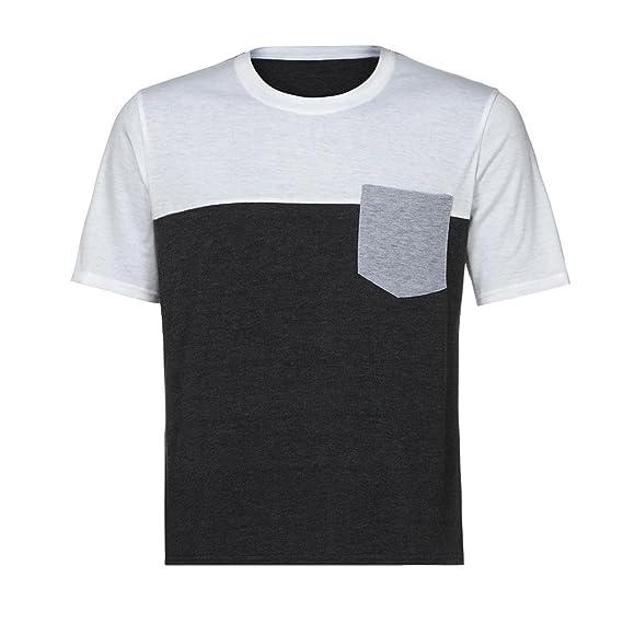 Naturazy Verano Moda Color De Hechizo Bolsillo Camiseta De Manga Corta Baloncesto De AlgodóN Joven Adolescente