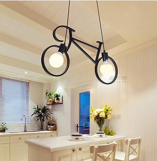 Colgante de luz Vintage Lámparas Para Bicicletas Creativas Lámpara ...