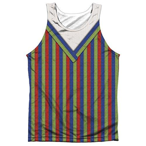 A&E Designs Bert Costume Sublimation Tank Top (Front & Back), 3XL ()