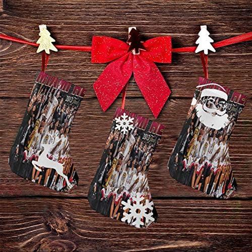 クリスマスの日の靴下 (ソックス3個)クリスマスデコレーションソックス アメリカンバスケットボールチャンピオンMVP クリスマス、ハロウィン 家庭用、ショッピングモール用、お祝いの雰囲気を加える 人気を高める、販売、プロモーション、年次式