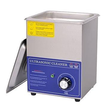 CGOLDENWALL Limpiador Ultrasónico Comercial Joyería y Gafas Limpiador Máquina con Temporizador 60W 2L Gran Capacidad Acero