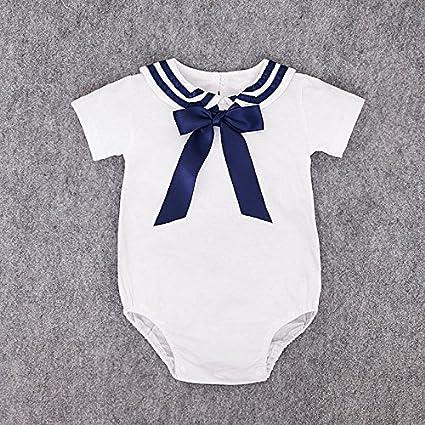 ZooArts - Traje de marinero para recién nacido, unisex, 0 a 18 meses,