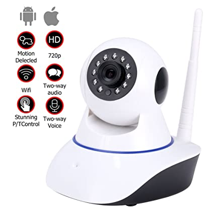 YISSVIC - Cámara de vídeo inalámbrica, webcam sin cables WiFi de vigilancia con visión nocturna