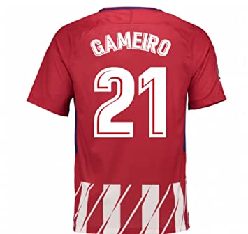 2017-2018 Atletico Madrid Home Football Soccer T-Shirt Camiseta (Kevin Gameiro  21 500d1e8d0990b