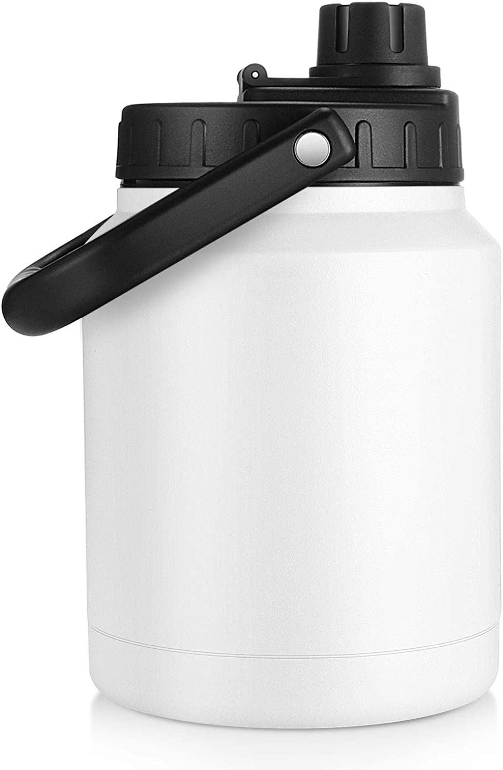 Sursip 64 Oz Vacuum Insulated Water Bottle,Half Gallon Stainless Steel Double Walled Water Jug,18/8 Food-Grade Stainless Steel Insulated Water Bottle for Hot and Cold Drinks Water Flask,White