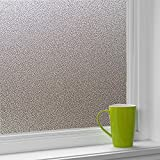 Cumyton Privacy Self-Adhesive Window Film Door Sticker Static Cling Clear White 35.4 by 78.7 in
