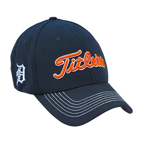 c274abe266b Amazon.com   Titleist MLB Detroit Tigers Fitted Stretch Golf Hat M L    Sports   Outdoors