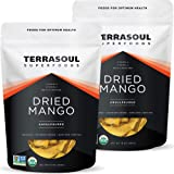 Terrasoul Superfoods Organic Dried Mango Slices, 2 Lbs (2 Pack) - Naturally Sweet & Tart   Healthy Prebiotic