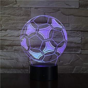 KangYD Balón de fútbol creativo 3D LED luz de noche, decoración de ...