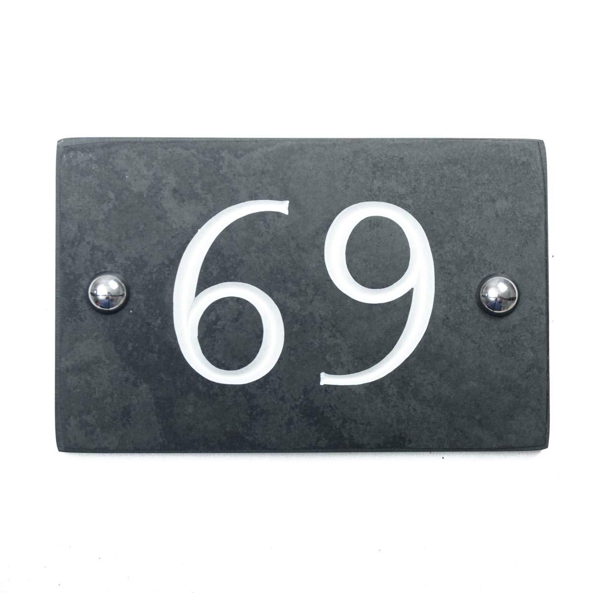 Black Slate House Number 1-99 (Number 69)
