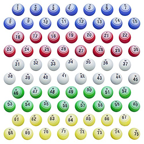 Royal Bingo Supplies Replacement Set Professional Bingo Balls for Large Cages and Bingo Blowers, 1.5-Inch by Royal Bingo Supplies