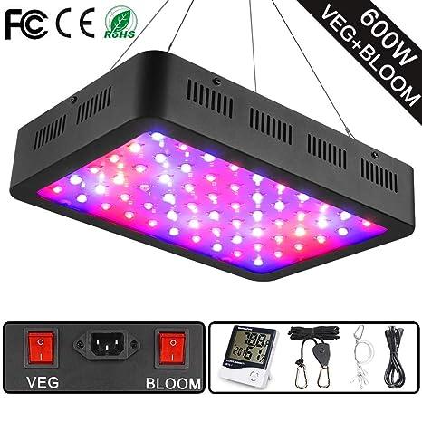Amazon.com: Wakyme - Luz LED para plantas de 600 W ...
