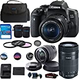Cheap Canon EOS 750D/Rebel T6i DSLR Camera Bundle with Canon EF-S 18-55mm IS STM Lens + Canon EF-S 55-250mm f/4-5.6 IS STM Lens – Deal-Expo Bundle
