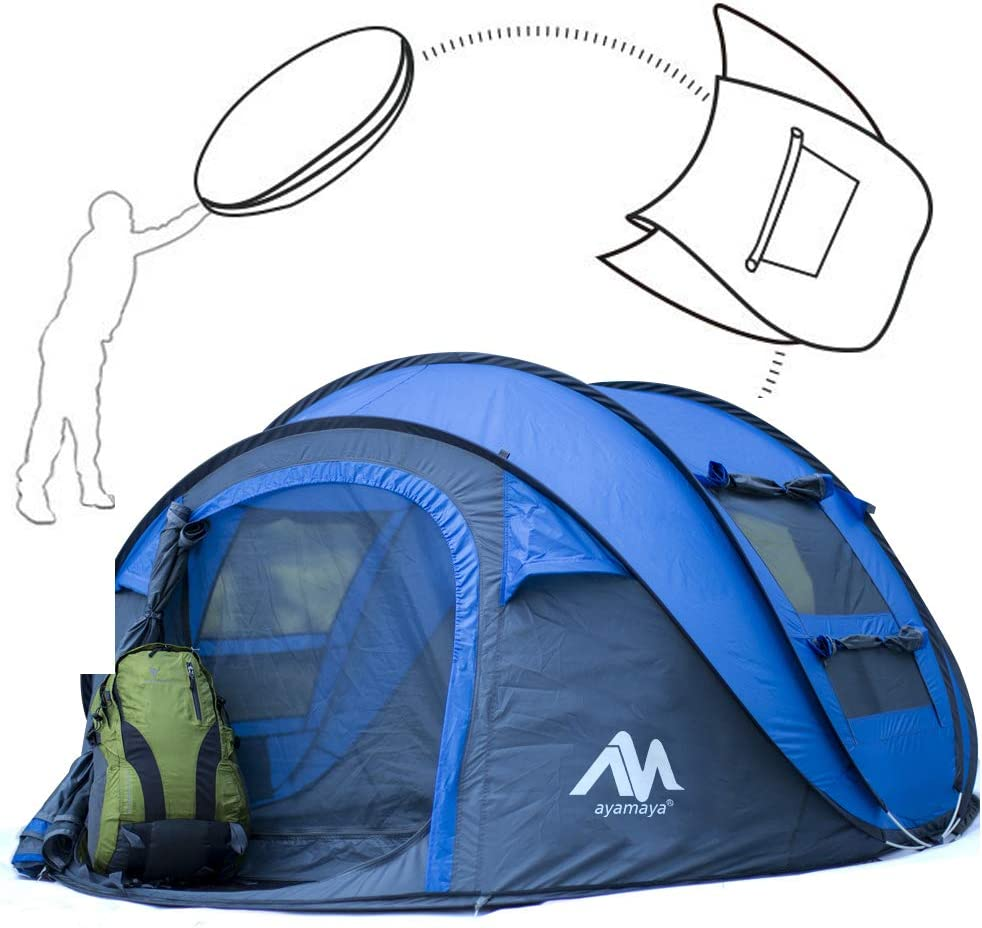 2 Man Person Pop Up Dome Tent Festival Camping Hiking Beach Quick Instant Tent V