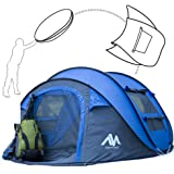 ayamaya Pop Up Tents for 3 to 4 Person Quick Easy Setup 3 Seconds Instant Popup Camping Tents - Easy Access [2 Door] Beach Tent Sun Shelter - Ventilated 4 Mesh Window Dome Tent