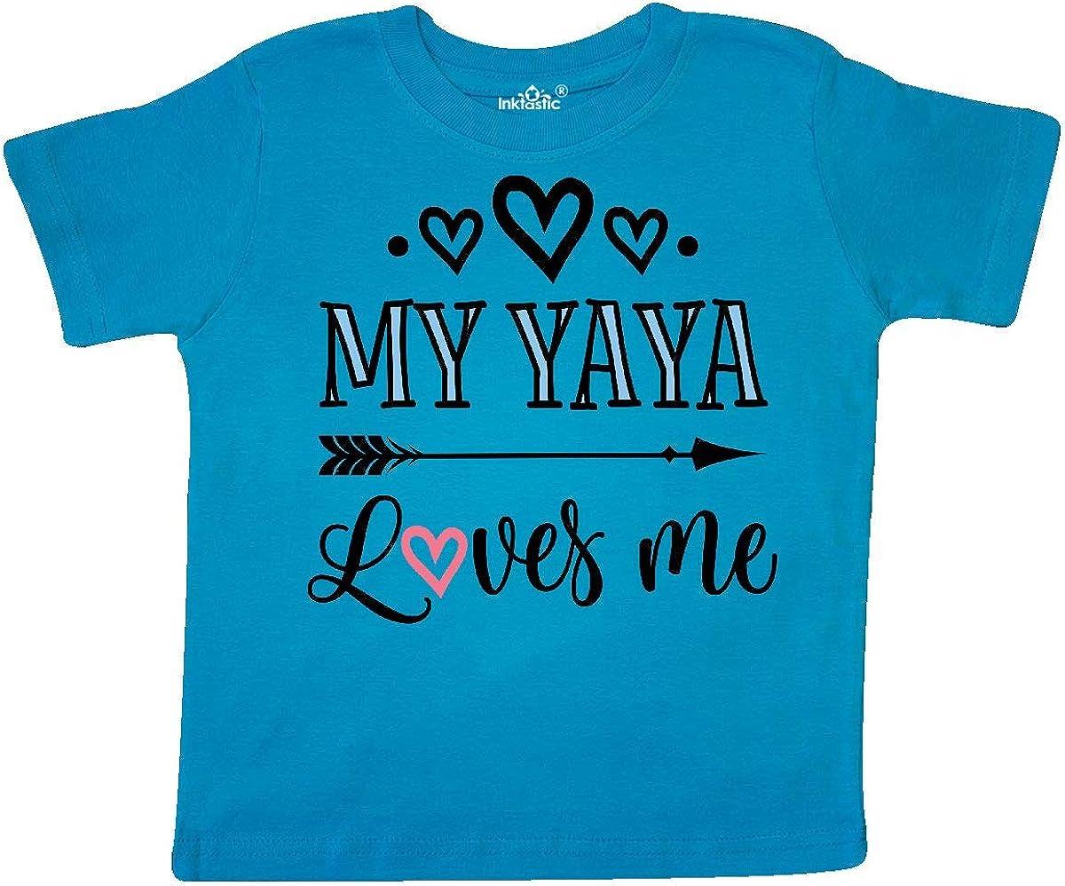 inktastic My Yaya Loves Me Grandchild Gift Toddler T-Shirt