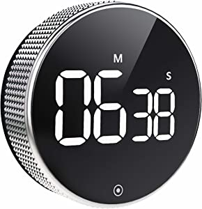 OVEKI Kitchen Timer, Magnetic Countdown LED Digital Timer,Twist One Button Operation for Teacher Kids and Elderly,for Classroom Home Work Fitness