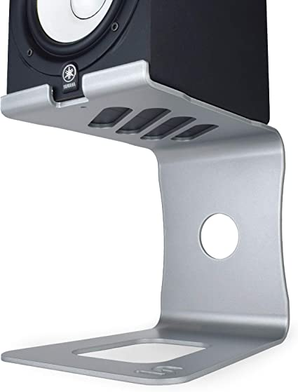 Soundrise PRO Studio Monitor Stands Raw//Pair - Aluminum Desktop Speaker Stands for Studio Reference Monitors 100/% Made in USA Raw