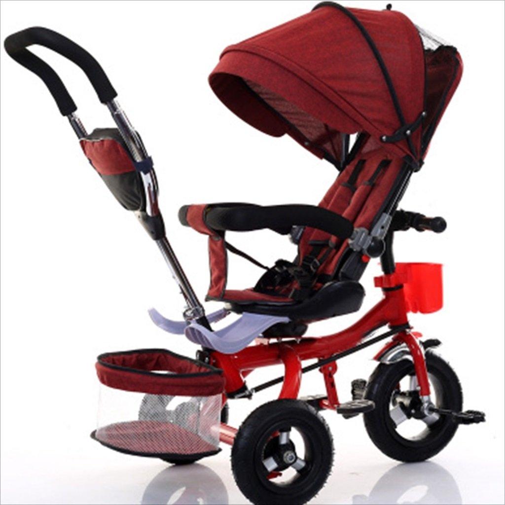 子供屋内屋外小型三輪車自転車の男の子の自転車の自転車6ヶ月-5歳の赤ちゃんスリーホイールトロリー、ダンピング/回転シート/アルミニウム合金のゴム製の車輪 (色 : 8) B07DV871XQ 8 8