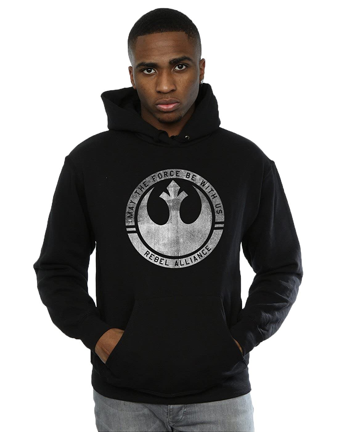 Star Wars Herren Rogue One May The Force Be with Us Kapuzenpullover