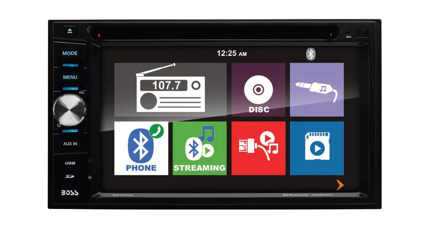 Boss Audio Elite BV760B 6.2 Inch DVD Receiver with Bluetooth