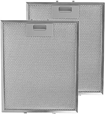 SPARES2GO Malla Metálica Filtro para IKEA Campana Extractora / Cocina Extractor Ventilación (Pack de 2 Filtros, Plata, 300 x 250 mm): Amazon.es: Grandes electrodomésticos