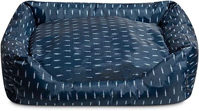 Hollypet Cooling Pet Bed for Small Medium Dog Puppy and Cat, Comfortable Rectangle Nest Sleeping Bag Cushion Mat Pad for Summer, Dark Blue