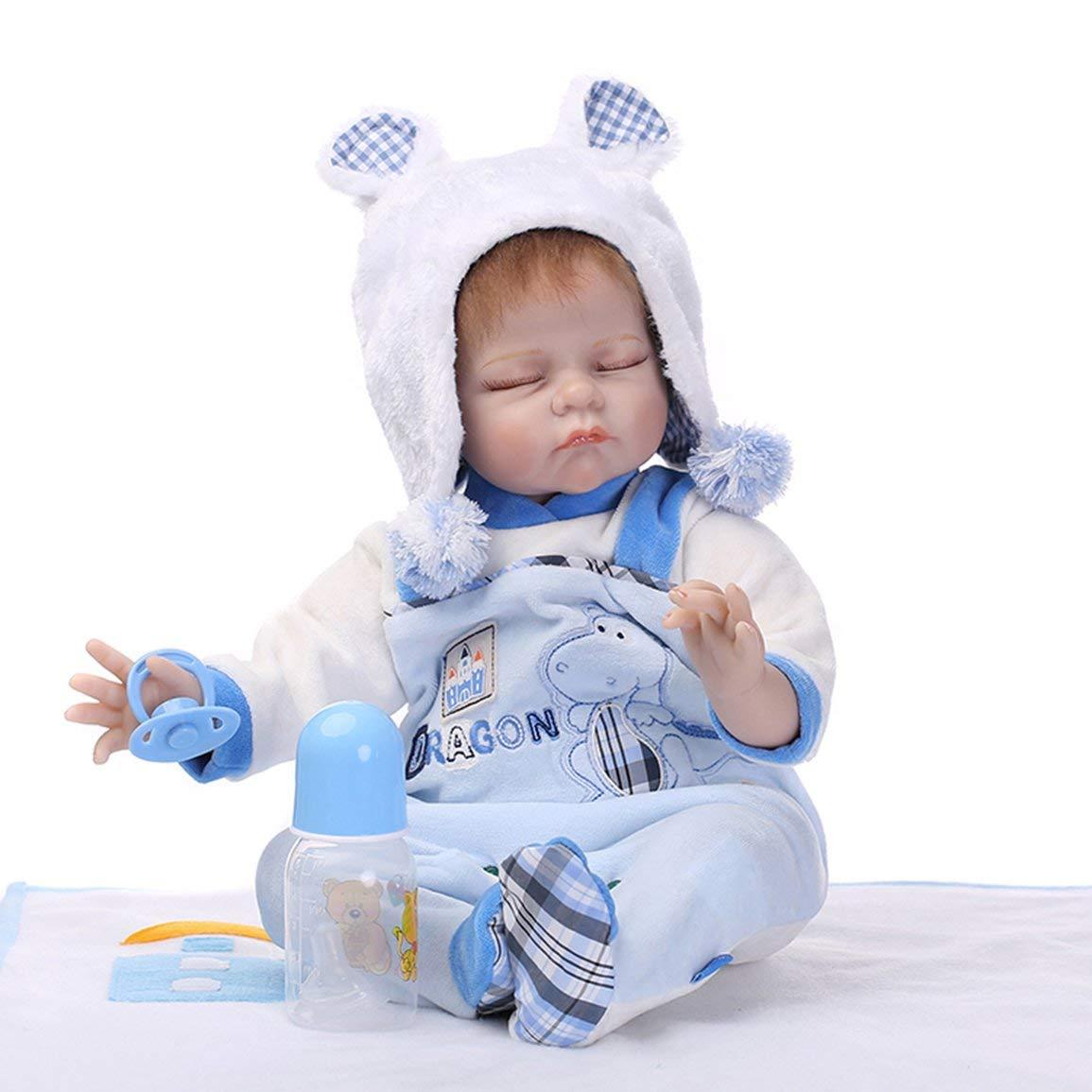 Reducción de precio 55cm de cuerpo completo del bebé suave de silicona de vinilo muñeca del bebé recién nacido juguetes de la muñeca de la muchacha de los niños de la muñeca renacida Playmate regalo de la m