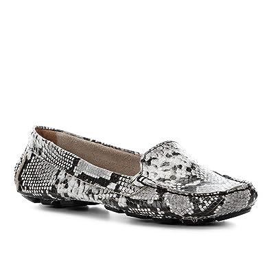 ad750f2d98 Mocassim Couro Shoestock Wild Snake Feminino  Amazon.com.br  Amazon Moda