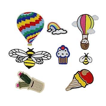 huixun gemischt Heißluftballon Bee Animal Kleine Patches Streifen ...