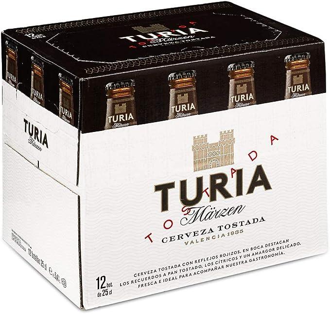 Turia Märzen Cerveza Tostada - Caja de 12 Botellas 25cl: Amazon.es: Alimentación y bebidas