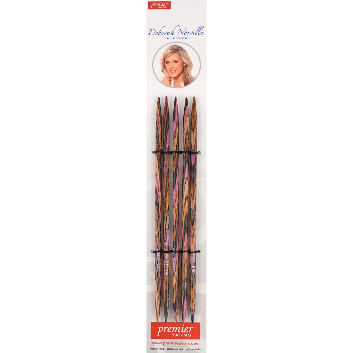 Premier Yarns Deborah Norville Double Pointed Needles, 6-Inch, 7/4.5mm DNN80-8