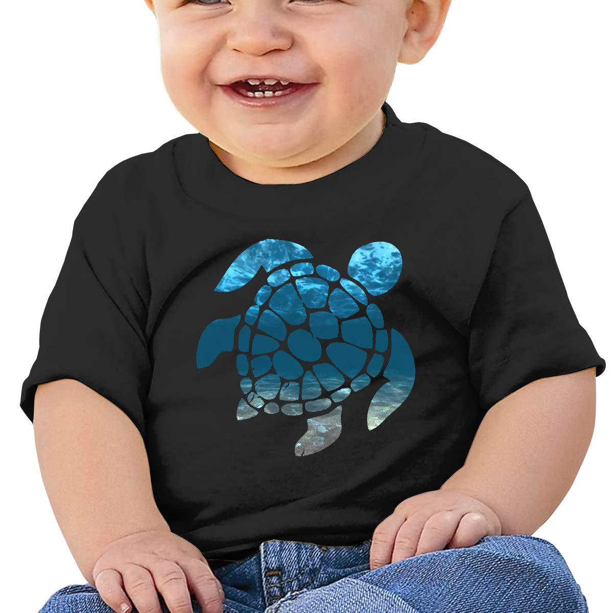 Tie Dye Turtle Sea Toddler Short-Sleeve Tee for Boy Girl Infant Kids T-Shirt On Newborn 6-18 Months