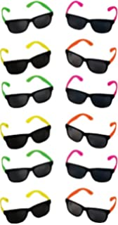 014776d85c Rhode Island Novelty Neon 80 s Style Party Sunglasses with Dark Lens
