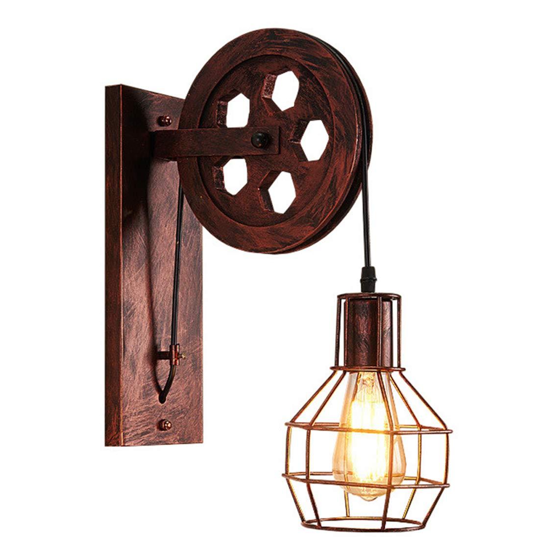B OneGröße GRYY Retro Wandleuchte American Industrial Wind LOFT Riemenscheibe Restaurant Licht Balkon Korridor Shop Lampe Kreative,B-OneGröße