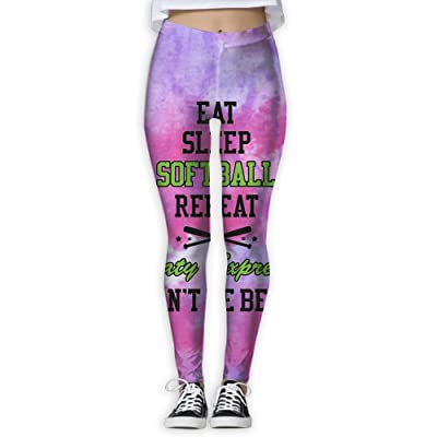 Houde Ankang Eat Sleep Softball Women's Yoga Trousers Sweatpants