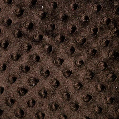 - Chocolate Brown Minky Dot Cuddle Fabric - Sold By The Yard - 58