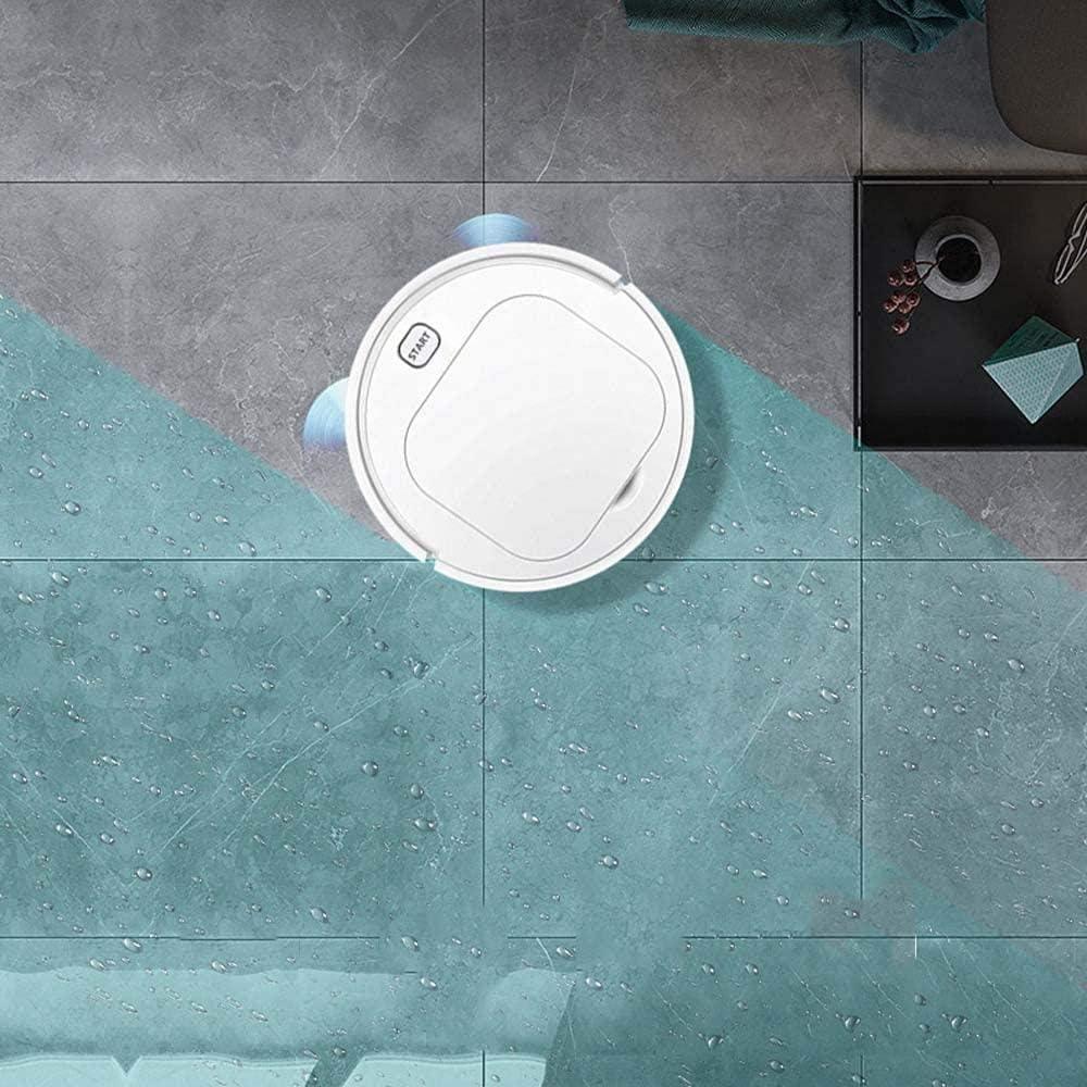GSWF_OOEFC Robot de Balayage Automatique Intelligent aspirateur Paresseux Domestique Petits appareils-Blanc Blanc