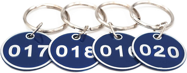 Sourcemall Targhette numerate in lega di alluminio con portachiavi 1-50 Nero