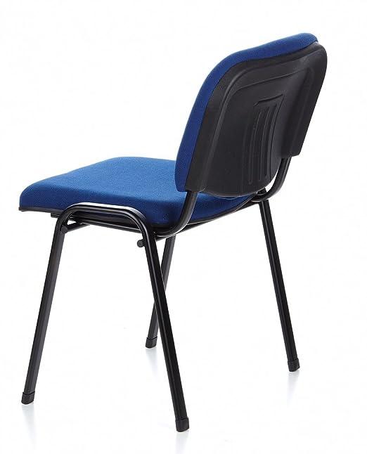 HJH Office XT 600 Silla de Confidente, Tela, Azul/Negro, 42 x 58 x 84