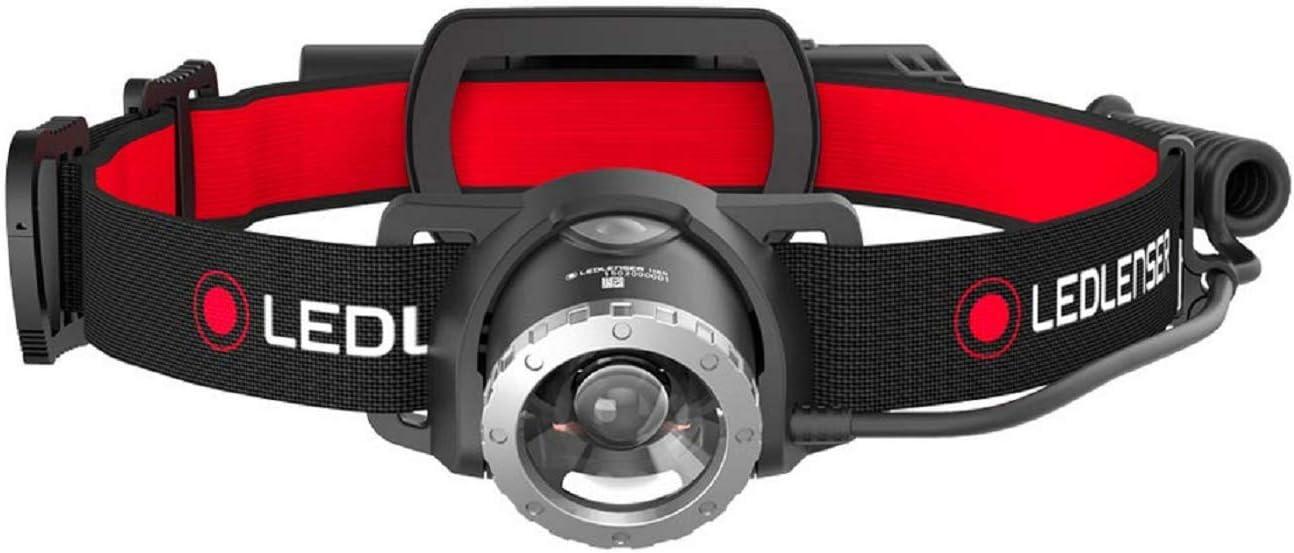 Led Lenser H8R - Linterna (Linterna con Cinta para Cabeza, Negro, Rojo, IPX4, 1 lámpara(s), LED, 250 LM)