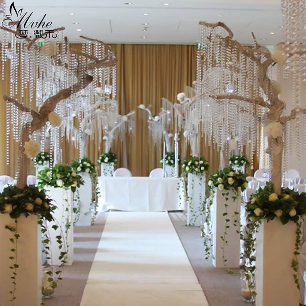 Irisierend Kristall Diamant Girlande Acryl Perlen f/ür DIY Hochzeit Party Dekoration INHEMI 30/m Kristalle Glas Perlen Transparent