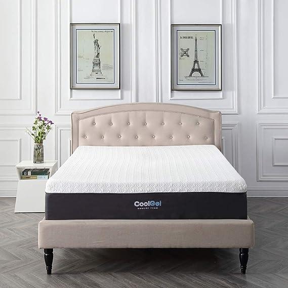 Classic Brands Cool Gel and Ventilated Memory Foam 12-Inch Mattress, CertiPUR-US Certified, Queen
