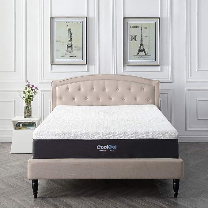 Classic Brands Cool Gel Memory Foam 12 Inch Mattress Queen Amazon