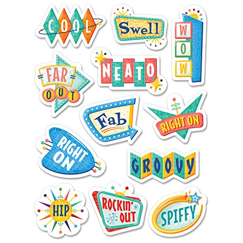 Creative Teaching Press Mid Century Mod Retro Rewards Stickers (8451)