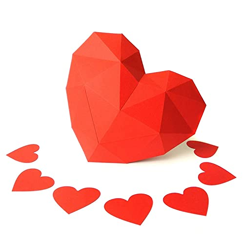 Amazon Com Paperraz Heart Sculpture 3d Puzzle Craft Kit For Adults